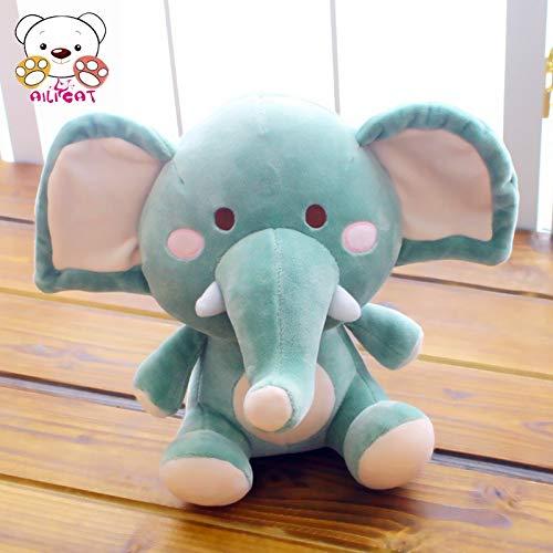 DONGER Weiche Umarmung Elefant Kissen Spielzeug Weiches Schlafkomfort Puppe Puppe Rosa Mädchen, Grün, 22 cm B07L4CRZ9H Plüschtiere Viele Sorten | Leicht zu reinigende Oberfläche