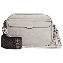 Rebecca Minkoff Leather Camera Bag With Guitar Strap - Grey