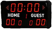 Gym LED Wall Timer LED Indoor Professional 12/24/30 Seconds Shot Scoreboard Electronic Digital for Basketball,