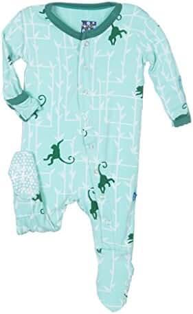 KicKee Pants Baby Boys' Essentials Print Footie