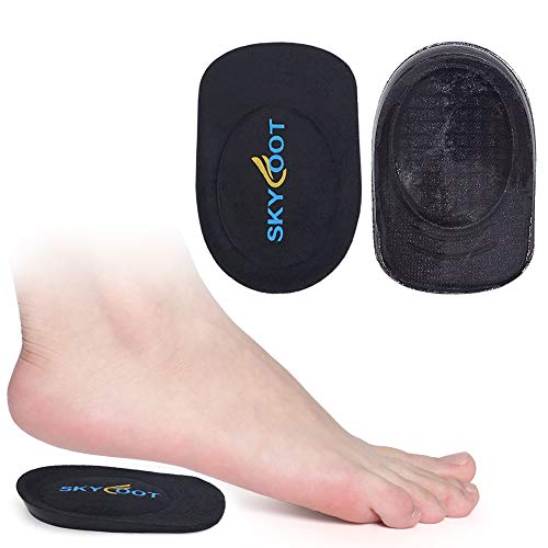 Skyfoot's Heel Cups, Gel Heel Cushions for Plantar Fasciitis, Heel Pain, Bone Spur, Shock Absorbing, Achilles Pain and Leg Length Discrepancy(Medium - Women's 6-9|Men's 5-8)