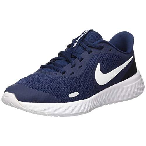 chollos oferta descuentos barato NIKE Revolution 5 GS Running Shoe Unisex Adulto Azul Midnight Navy White Black 40 EU