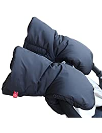 Stroller Hand Muff, iKuboo Waterproof Extra Thick Gloves Baby Stroller Mittens Stroller Gloves Pushchair Gloves Pram Gloves Stroller Accessories for Parents (Black)