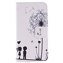Galaxy Core LTE Case, Chinstyle Samsung Galaxy Core LTE G386W G386F Case PU Leather Wallet Case Magnetic Closure Pure Kids Love Pattern Flip Cover