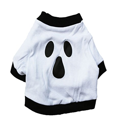The Tick Halloween Costume For Sale (Freerun Dog Clothes Halloween Ghost Costume Cotton White Pet Shirt - XS)