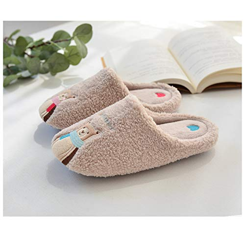 Comfortable amp; Warm Outdoor Wall Slip Slippershouse Begie Night onbear Women Indoor Men Cotton Slippers And Shoes 54qxpH