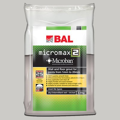 BAL Micromax 2 Tile Grout by Home Standard (2.5KG, Gunmetal)