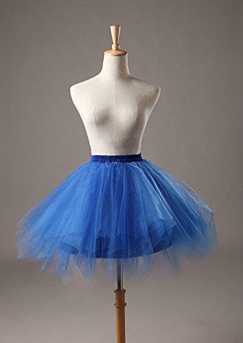 Donne Sottoveste Annata Blu Reale Tutu Joygown Bolla Delle Gonna Balletto 1950 pZwnxzHn