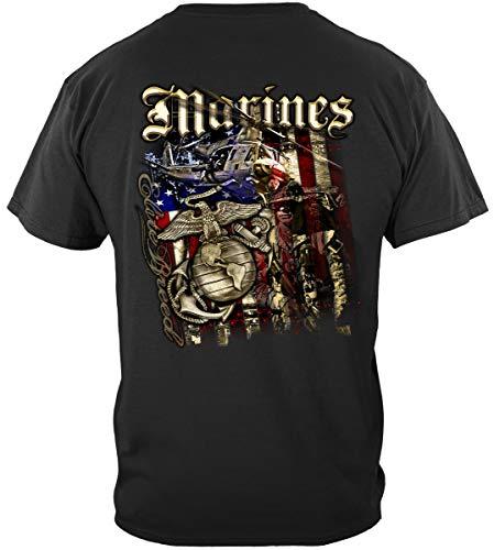 Erazor Bits Marine Corps, USMC T-Shirt Elite Breed USMC Marines Aerial Assault XX-Large Black