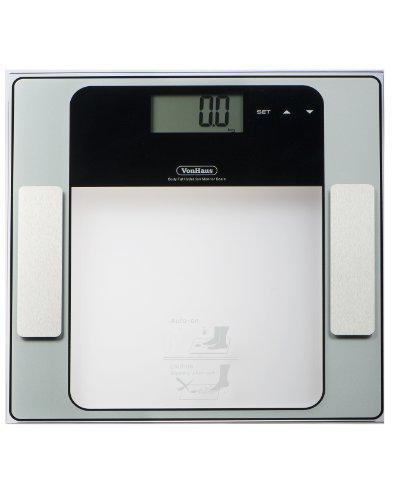 Vonhaus Digital Body Fat Analyzer Bathroom Scale 23st/330lb/150kg. Composition Analyzer. Measures: Weight, Muscle, Body Fat, Hydration & Bone %