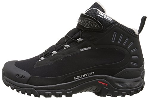 Salomon Chaussures milieu DEEMAX 3TS WP W chaussures de randonnée, femme, noir–(BK/BK/GY)