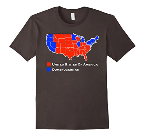 Election  Map Funny Dumbfuckistan TShirt - Tee shirt us map dumbfuckistan