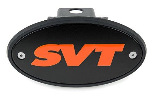 Made in USA F-150, Raptor, SVT Lightning Silver SVT Logo HEM HIGH-END MOTORSPORTS 2 Black Receiver Hitch Cover for Ford
