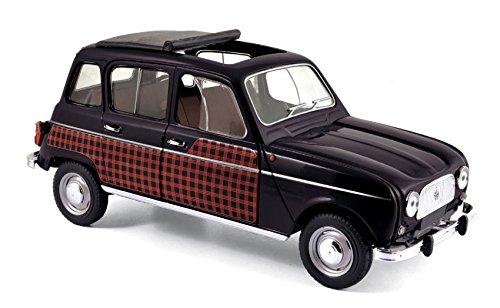 Modellino RENAULT 4 PARISIENNE 1964 BLACK /& RED 1:18 Die Cast Auto Stradali Norev