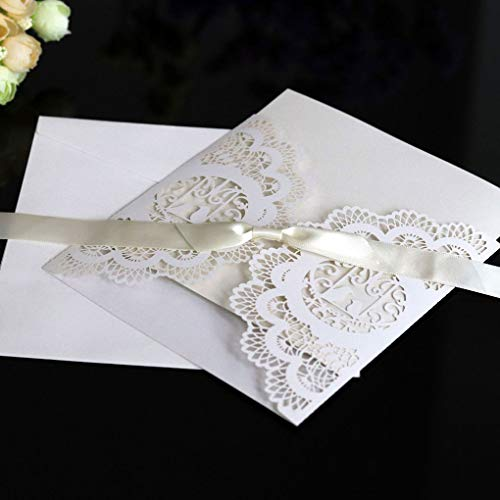 Cards & Invitations - 2019 50pcs Pearl Paper Lace Invitation Card Hollow Out Carved Crafts Wedding Bridal - Paper Card Card Paper Cut Craft Pearl Card Cufflink Sticker Ribbon Paper Flow