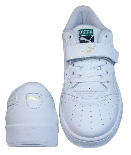 Puma Sky II + Womens Leder Schuhe Sneaker / Schuh - weiß