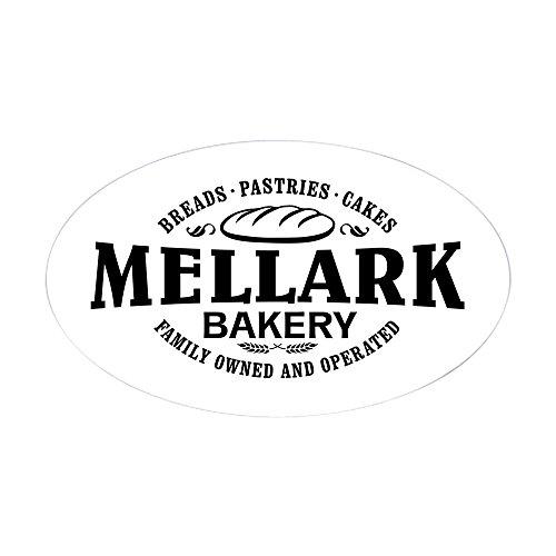 Price comparison product image CafePress - Mellark Bakery [B / W] Sticker (Oval) - Oval Bumper Sticker,  Euro Oval Car Decal