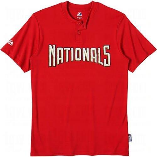 MLB Washington Nationals Two Button Youth Jersey Shirt Medium