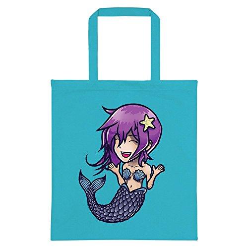 Azure RealSlickTees Anime Anime Tote Blue Mermaid Bag RealSlickTees Mermaid qPxSngf0Z