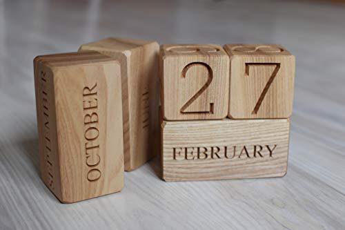 Wood Calendar Blocks Perpetual