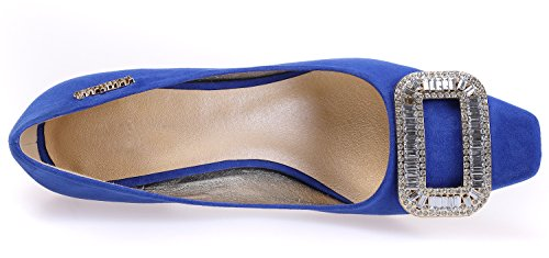 90 Sexyher Four Wedding Fashion 2 Kitten 2 Heel Shoes Party Inches Blue Colors In Womens Shomks5110 6rxqvw6