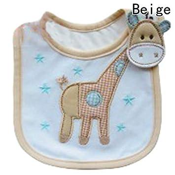 Macxy - 100% algodón Babero Infantil de la Saliva Toallas bebé recién Nacido Impermeable Baberos Usar los Accesorios de Dibujos Animados Forma Animal [BG]: ...
