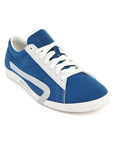 Diesel Men's Casual Shoes Bikkren Lace up Sport Fashion Sneakers (8.5 US/41 EUR/26.5 cm, Snorkel Blue/White)