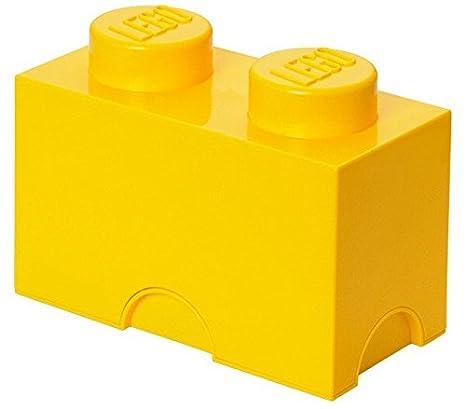 LEGO Bricks - Caja de Almacenamiento, Color Amarillo (Room Copenhagen 40020632)