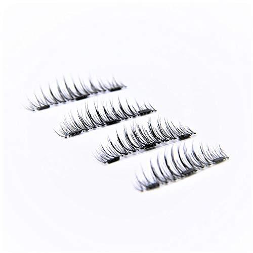 54fa5c78d3 LD Triple Magnetic Eyelashes by Lulu | Magnet Ultra-thin 0.2mm|False  Eyelashes Set for Dramatic Look| 3D Handmade Reusable Fake Lashes | No Glue  [Glue ...