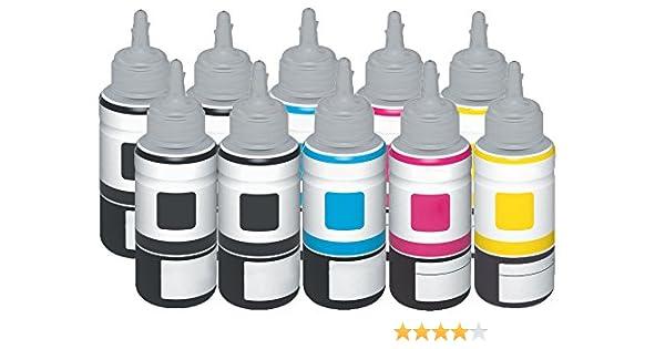 Ti de SA Basic Refill tinta para Epson T6641 para Epson EcoTank 2650 – Black – Potencia: aprox. 4000 páginas/5% de, color (08) 10x Ti-Sa Refill Tinte