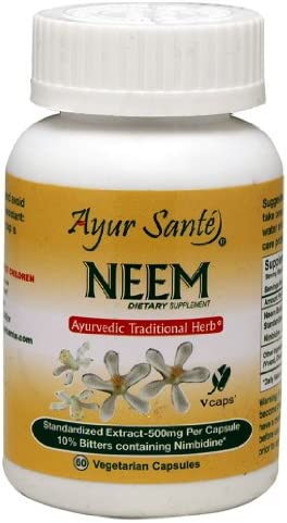 Neem-Extract 500mg Per Cap 10 Bitters containing Nimbidine-50 mg* 60 Veg Cap