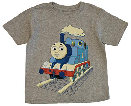 (Thomas the Tank and Friends Little Boys' Toddler Thomas Coming Through Tee (4T) Heather Gray)