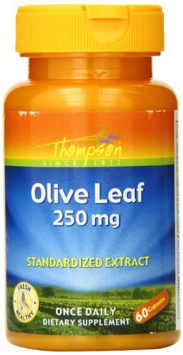Thompson Olive Leaf Capsules, 250 Mg, 60 Count (Pack of 2) by Thompson