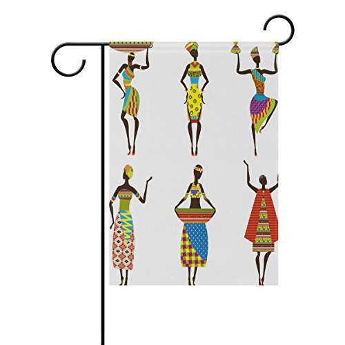 "LEISISI African Women Garden flag 28""X40"" Two Sided Yard Dec"