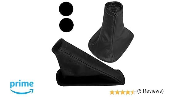 AERZETIX: Funda para palanca de cambios y freno de mano 100% Piel genuina negro con costuras de color negro: Amazon.es: Coche y moto