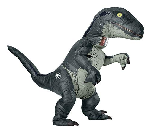Rubie's Jurassic World Adult Inflatable Dinosaur Costume, Velociraptor With Sound, Standard -