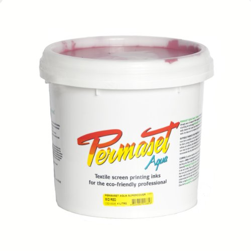 Permaset Aqua Supercover 4 Litre Fabric Printing Ink - Mid Red by OfficeMarket