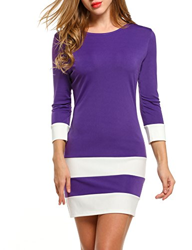 ANGVNS Casual Sleeve Patchwork Dresses