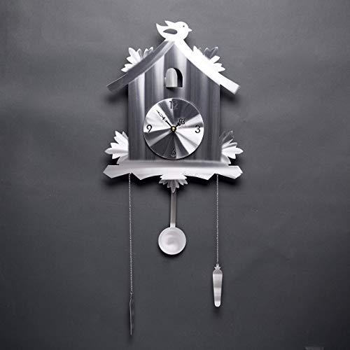 Cuckoo Clock, Aluminum Clock by Artist Sondra Gerber, American Handmade