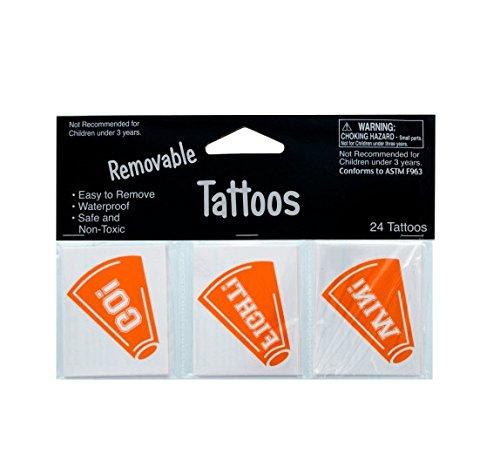 School Spirit Tattoos - Orange Party Accessory