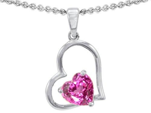 Star K Sterling Silver 7mm Heart Shape Pendant Necklace