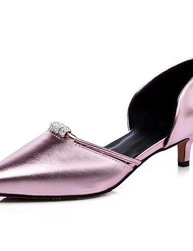 ZQ zapatos de mujer tac¨®n bajo en punta / tac¨®n abiertos del dedo del pie del partido&?noche / vestido / verde / rosa / rojo / plata / , red-us9.5-10 / eu41 / uk7.5-8 / cn42 , red-us9.5-10 / eu41 / pink-us8 / eu39 / uk6 / cn39