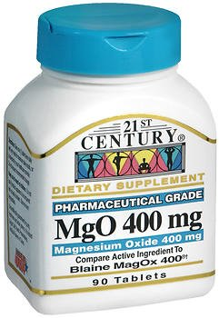 21St Century Mgo 400 Mg Tablets   90 Ct  Pack Of 2