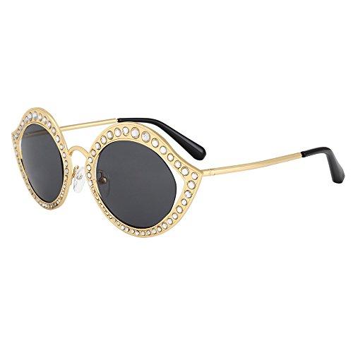 C2 Designer Brillen Vintage Frauen Kristall KLXEB Für Kreis Marke Sonnenbrille C1 qZzMwFH