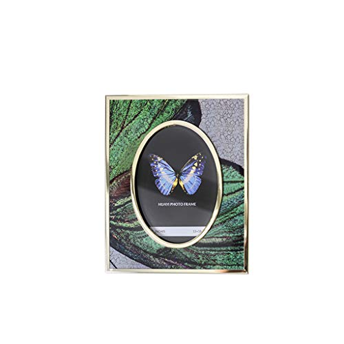 Metal Photo Frame Decoration with Gold-Rimmed Butterfly Shape, Creative Crafts Picture Frame, Can Put 6 Inch 7 Inch Photo QYSZYG (Size : A)