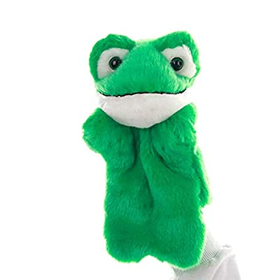 hbz11hl Gloves Cartoon Frog Animal Plush Doll Hand Puppet Storytelling Toy Home Sofa Ornament Bed Time Stuffed Plush Toys Birthday Gift for Kids Thanksgiving Day Best for Gift for Girls and Boys: Pet Supplies