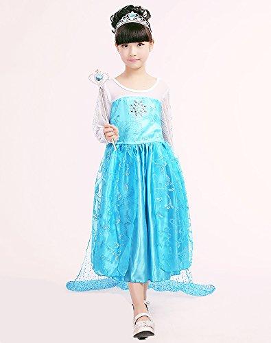 CUTEHILL - Disfraz de Elsa de Frozen para niñas (corona + peluca + varita mágica + guantes): Amazon.es: Juguetes y juegos