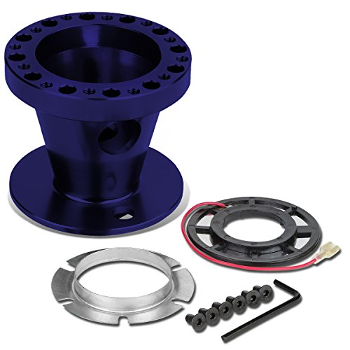 Aluminum Steering Wheel 6-Hole Hub Adaptor Kit (Blue) - Mitsubishi Eclipse / Lancer / Pickup