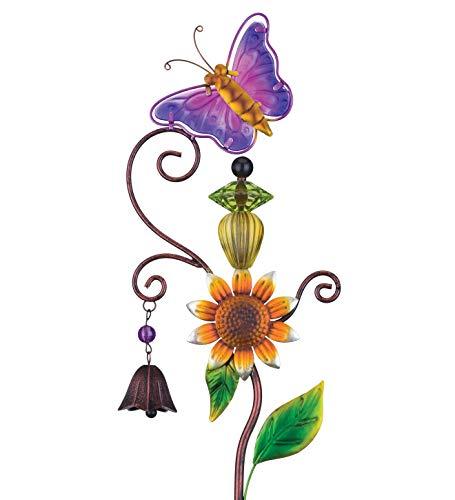 Regal Topiary Bell Garden Stake in Butterfly