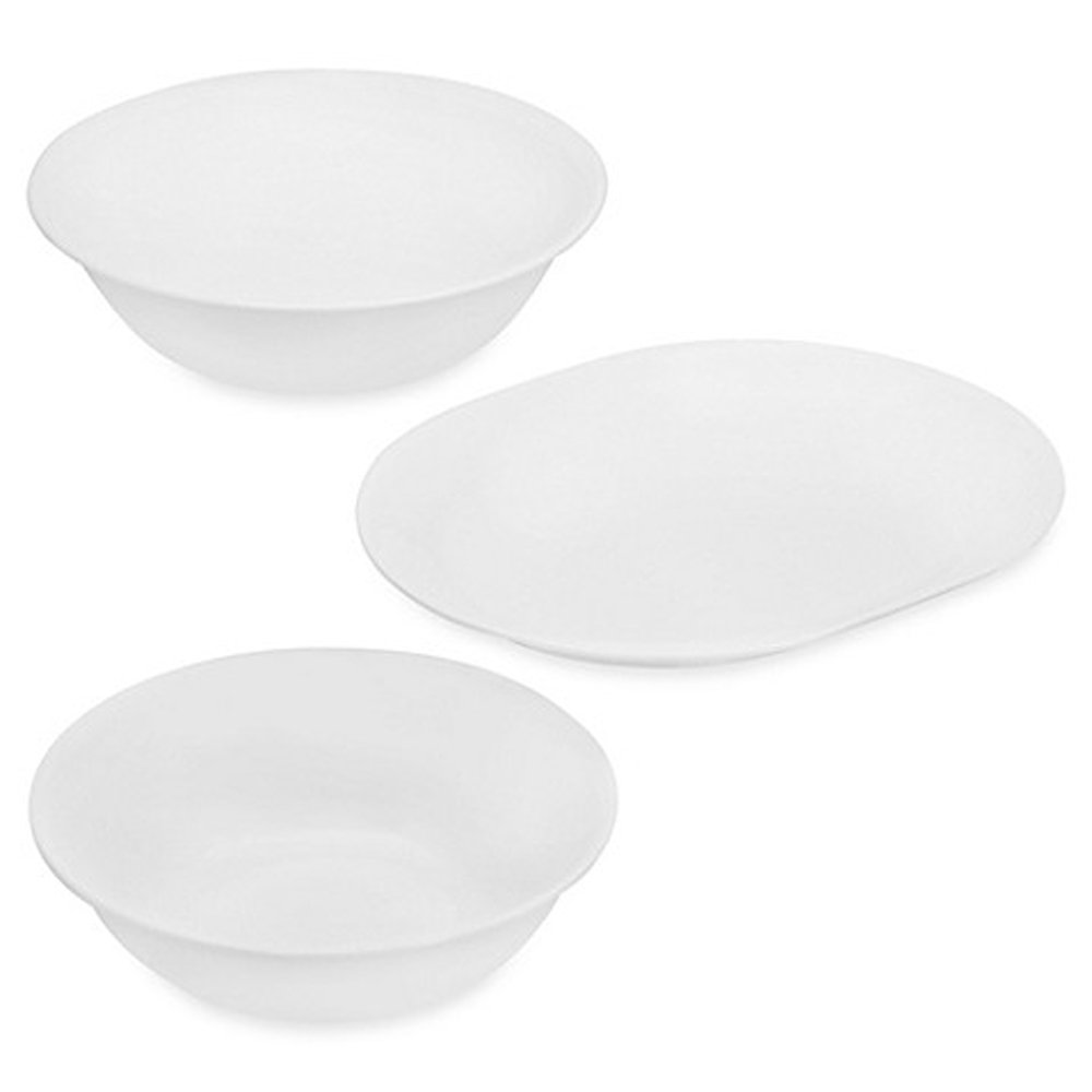 Corelle White 3-Piece Completer Set